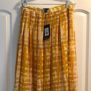 Who What Wear Marigold Tie Dye Skirt